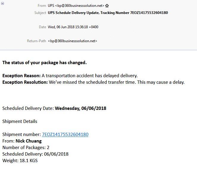 ups phishing email
